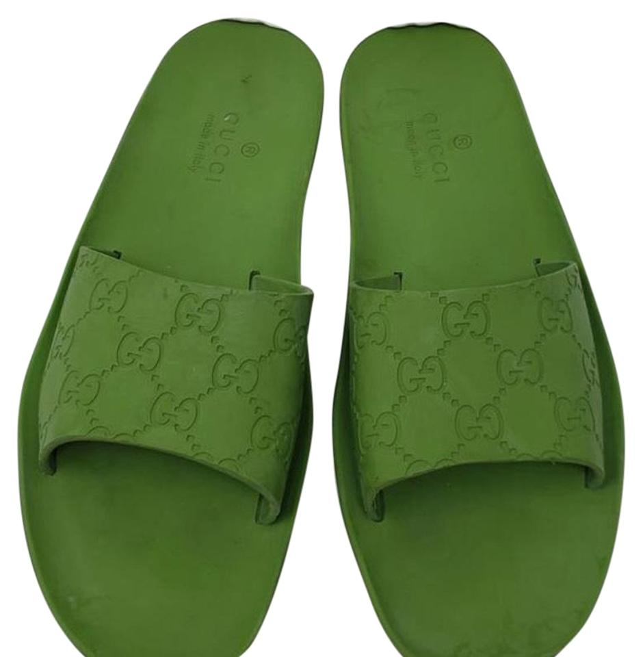 59d9a66d4e9a Gucci Green Slides Sandals. Size  EU 39 (Approx. US 9) Regular (M ...