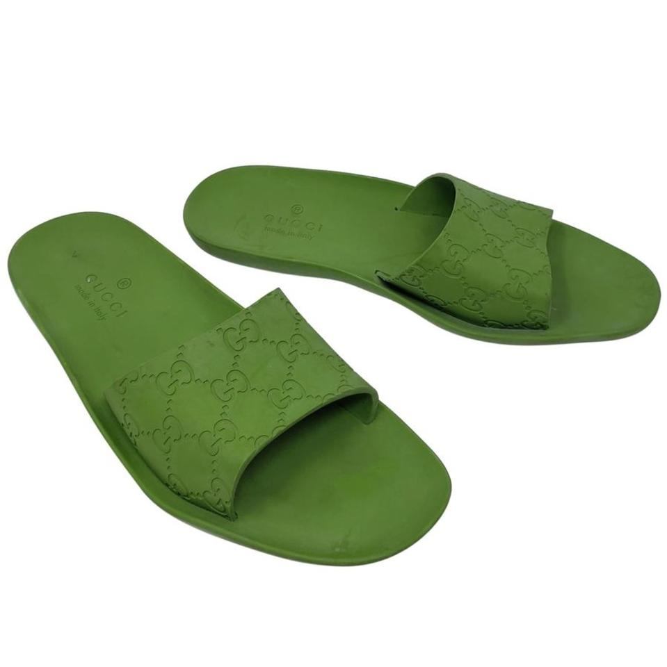 0a011484b387 Gucci Green Slides Sandals Size EU 39 (Approx. US 9) Regular (M
