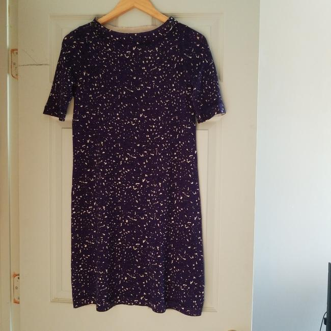 Item - Navy Black and White Mid-length Work/Office Dress Size 2 (XS)