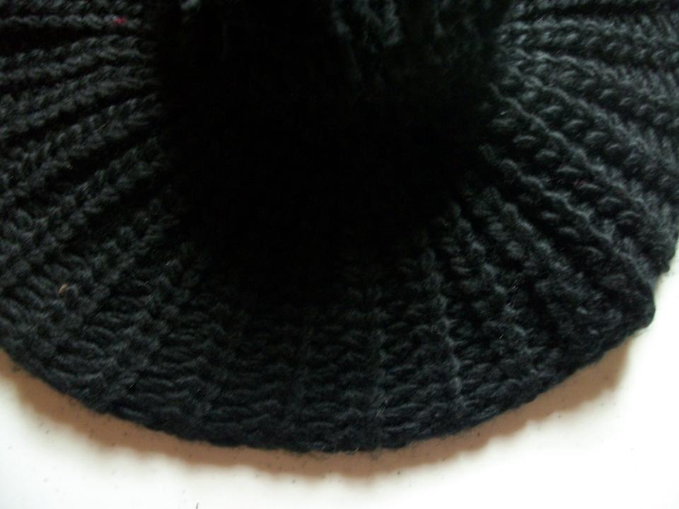 8bc08298500 Mixit Black Classic Style Knit Beret with Large Pom By Hat - Tradesy