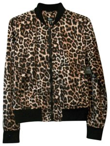 City Streets Light Jacket Zipper Front Jacket Animal Print Jacket Lightweight Jacket Jacket