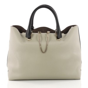 Chloé Leather Shopper Tote in blue, gray