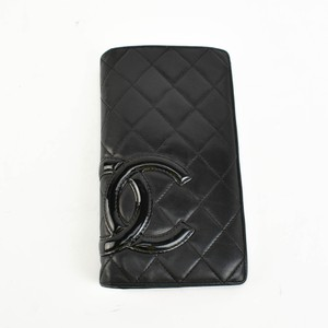 "Chanel Cambon Leather & ""CC"" Logo Long Folding (r)"