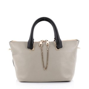 Chloé Leather Satchel in Gray and Blue