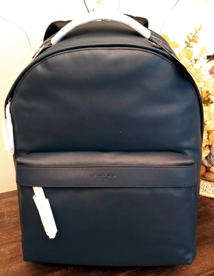 800404c52938 Michael Kors Odin Blue Leather Backpack - Tradesy