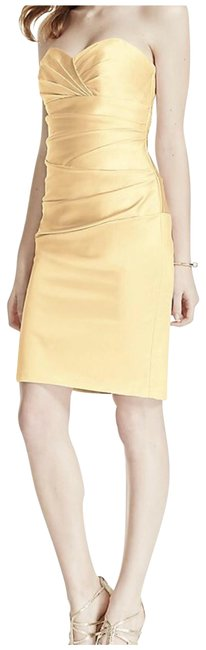 Item - Canary Yellow F15615 Mid-length Formal Dress Size 4 (S)