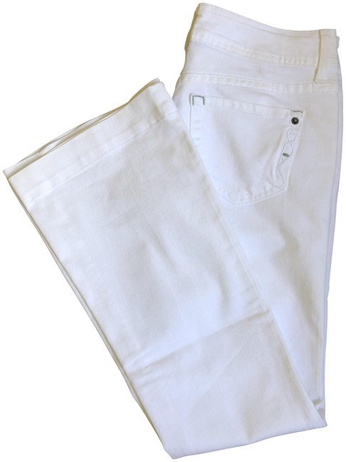 Item - White Mutated Flare Leg Jeans Size 27 (4, S)