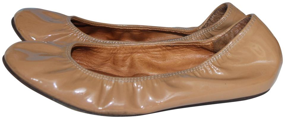 399cd7a07c544 Lanvin Nude Patent Leather Ballet Flats Size EU 38.5 (Approx. US 8.5 ...