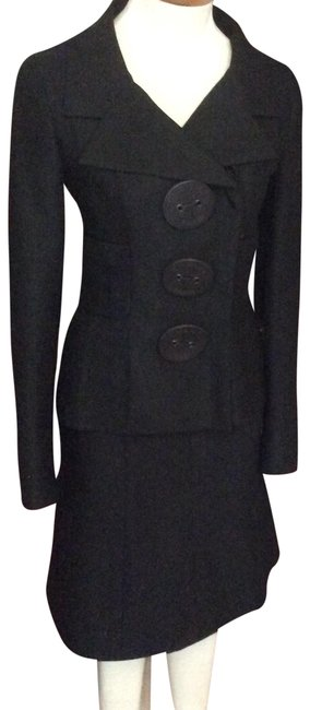 Item - Black Fitted Skirt Suit Size 4 (S)