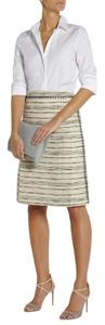 Tory Burch New Work Office Tweed Pencil Skirt Ivory & Blue