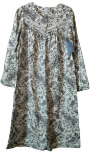 Adonna Multicolor Paisley Flannel Mid Length Gown Adonna Size Small