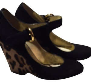 Giuseppe Zanotti Blk With Cheetah Print Wedges