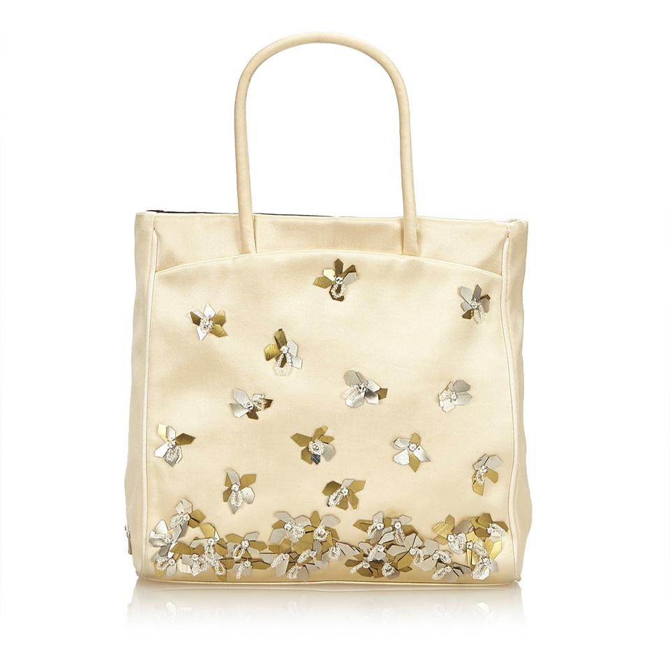 Gold Tote X Fabric Prada Satin dUP8dq