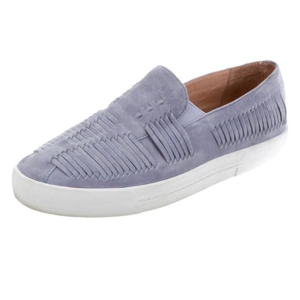 ce0851f4e0 Joie Blue Huxley Slip-on Suede Woven Sneakers Flats Size US 7.5 Regular (M,  B) 63% off retail