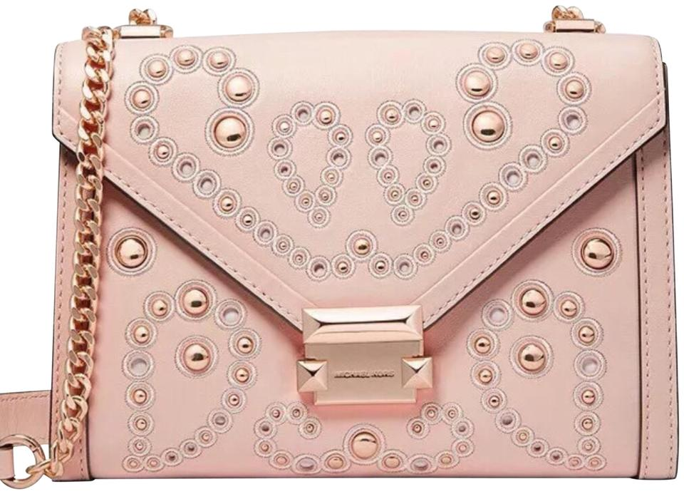 Michael Kors Whitney Convertible Soft Pink Leather Shoulder Bag ... b9586f568d