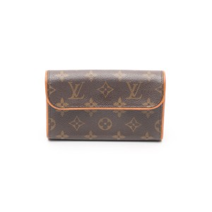 Louis Vuitton Monogram Pochette Florentine Belt Brown Clutch