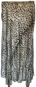 Roberto Cavalli Skirt Animal print dark Brown/ Cream/ Tan