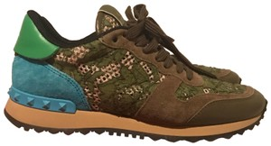 Valentino green and turquoise Athletic