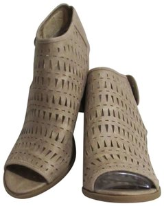 Not Rated High Heel New Peep Toe Size 9.5 Beige Boots