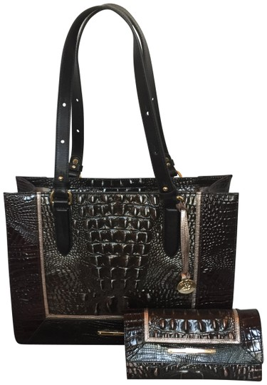 Brahmin Tote in brown, grey, metallic Image 0