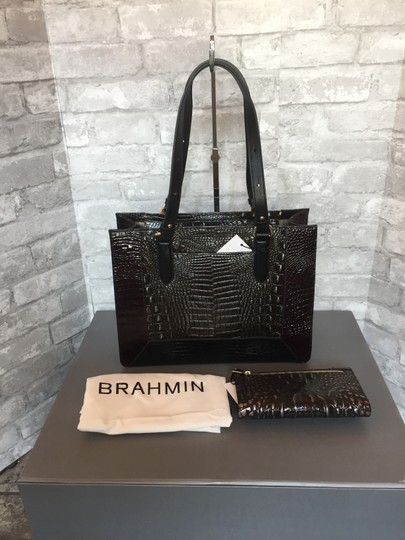 Brahmin Tote in brown, grey, metallic Image 2
