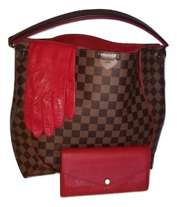 Louis Vuitton Discontinued Caissa Neverfull Delightful Damier Hobo Bag