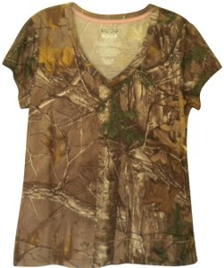 Realtree Camouflage Sleeve V Neck T Shirt Multi-Color