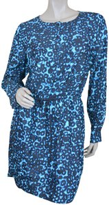 Kensie short dress Black/blue print Jersey Party on Tradesy
