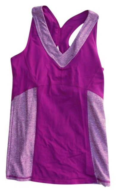 Item - Purpley Pink Two Tone Workout Sports Yoga Activewear Top Size 2 (XS)