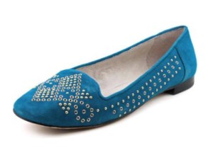 Vince Camuto Studded Suede Blue Flats
