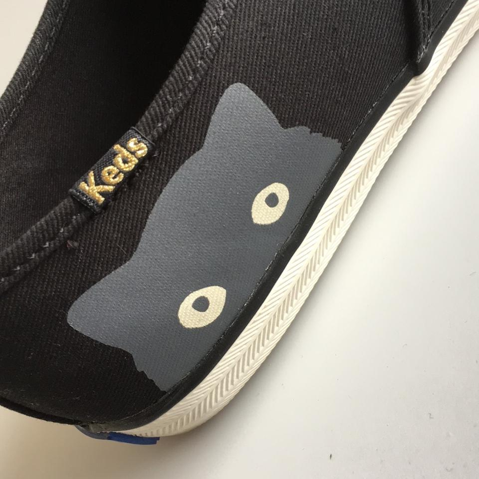 da2a642d865 Keds Taylor Swift Cat Sneakers Sneaky Cat Grey Cat Black Athletic Image 11.  123456789101112