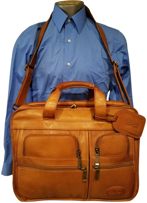 Item - Vintage Made In Colombia Tan Leather Laptop Bag