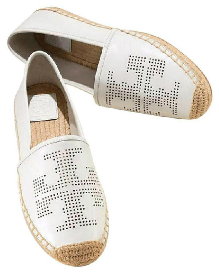 9ca6d832b18 Tory Burch White Leather Espadrilles Flats Size US 9 Regular (M