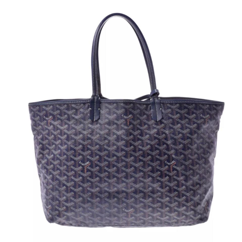 Coated Navy Louis Tote Canvas St Pm Blue Pouch with Goyard 5X0waq5