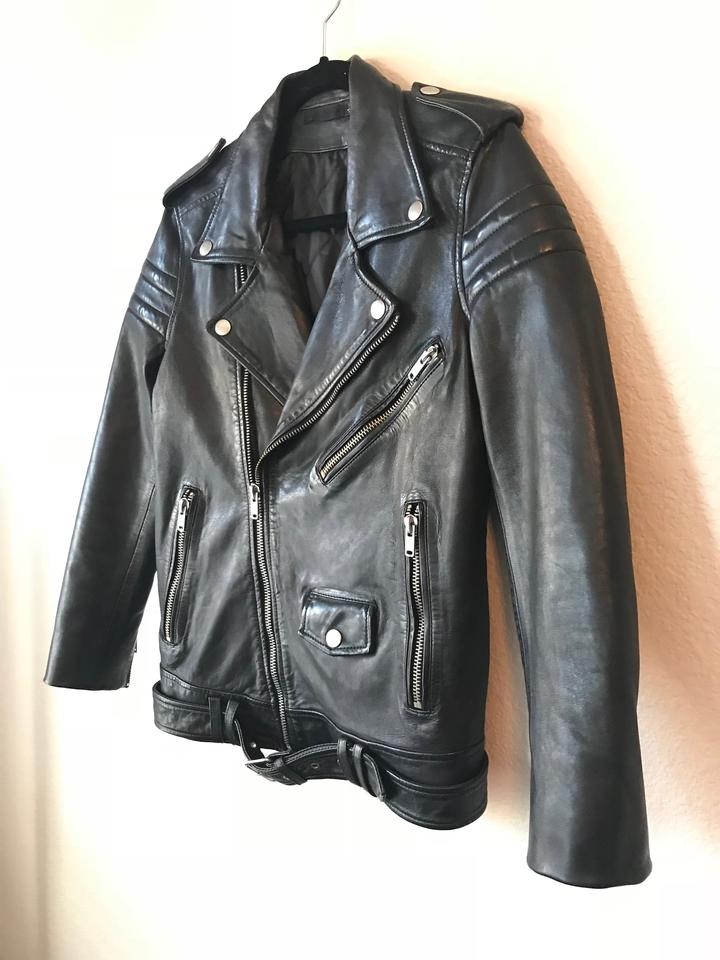 Moto Stripes DNM Quilted Leather Black Jacket BLK Motorcycle SwItqS