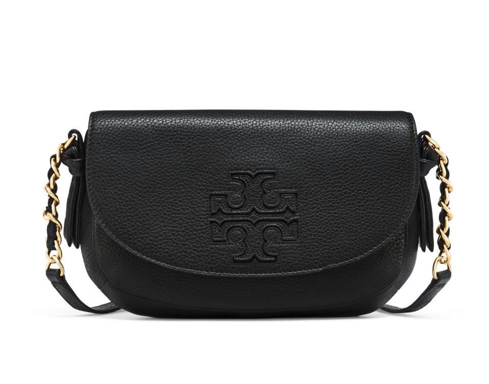 Body Cross Leather Tory Burch Harper Black Bag Shoulder 4XqSYzx