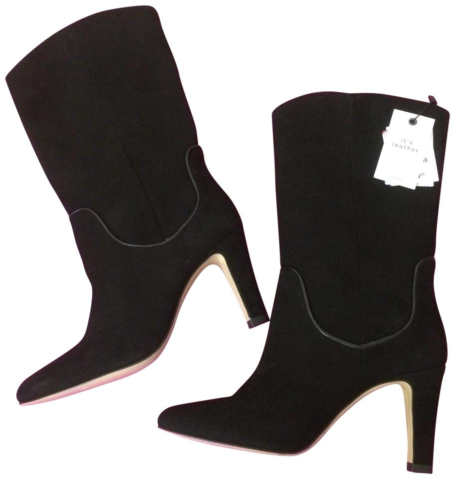 a5f5847e5 Zara Black Ultra Luxe Trendy Leather Boots/Booties. Size: US 9 Regular ...