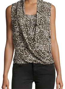 Vince Camuto Top Animal Print