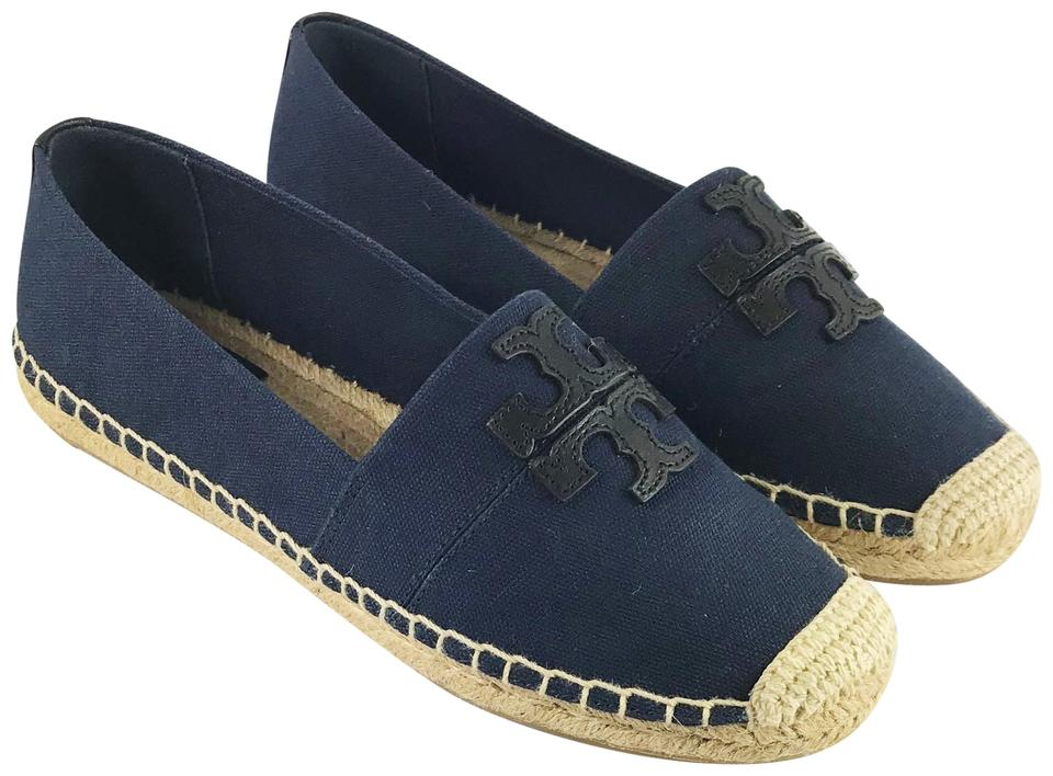 80be1224454 Tory Burch Navy Black Weston Canvas Espadrilles Flats Size US 7.5 ...