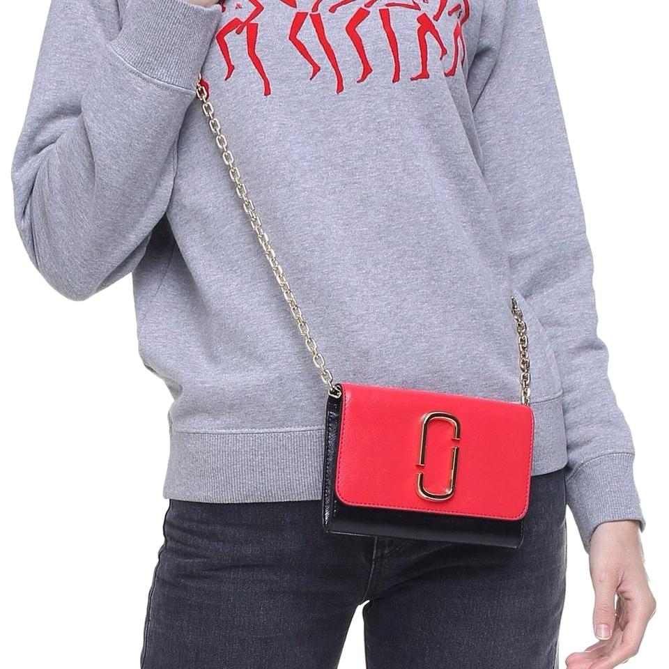 d1d1bee800 Marc Jacobs Snapshot Chain On Wallet Poppy Red Multi Cross Body Bag ...