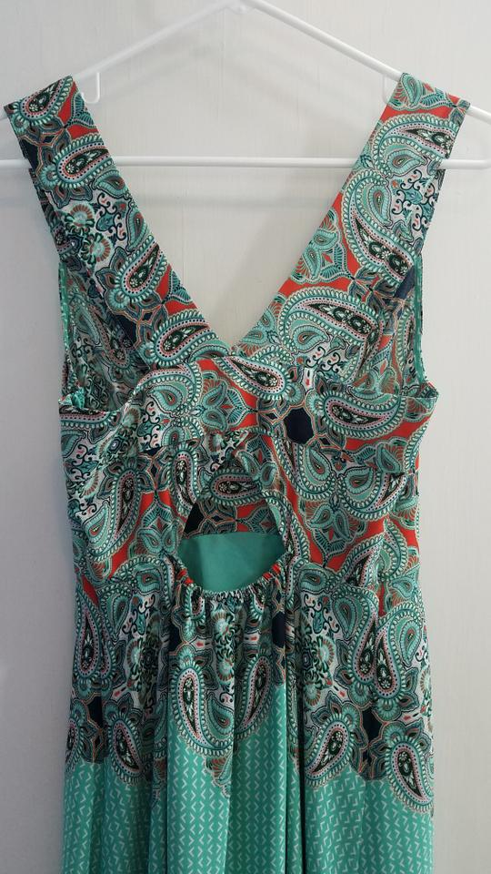 ae957ca2fe8d Turquoise blue Maxi Dress by Anthropologie Maeve Canyon Creek Pleated  Cutout Image 11. 123456789101112