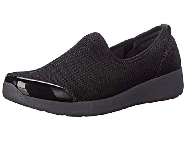 Item - Black Fun Runner Slip-on Walking - 8m New Sneakers Size US 8 Regular (M, B)