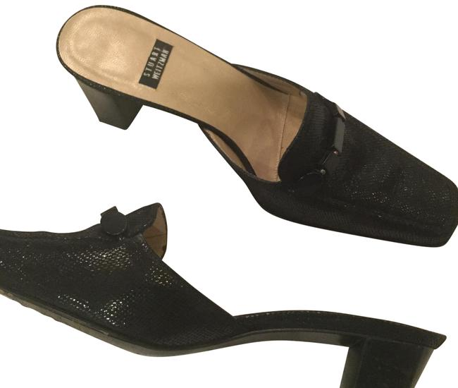 Item - Black Skin Mules/Slides Size US 4 Regular (M, B)
