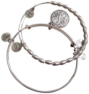 Alex and Ani ALEX AND ANI Two-Piece Silver Path of Life Bangle Set
