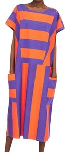 orange/purple Maxi Dress by Zara