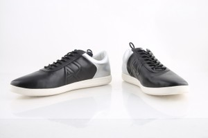Armani Jeans Black Sneakers Am538-99 Silver Shoes