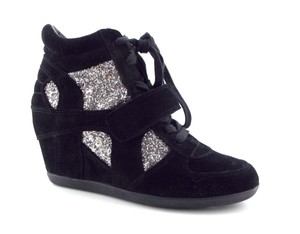 Ash Lucy Liu Wedge Bowie Silver Glitter Limited Black Athletic