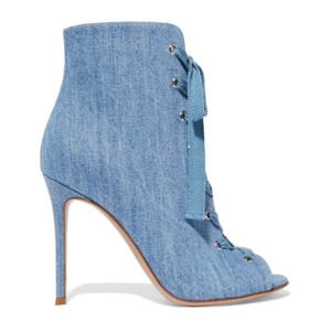 Gianvito Rossi Stone Wash Denim Boots