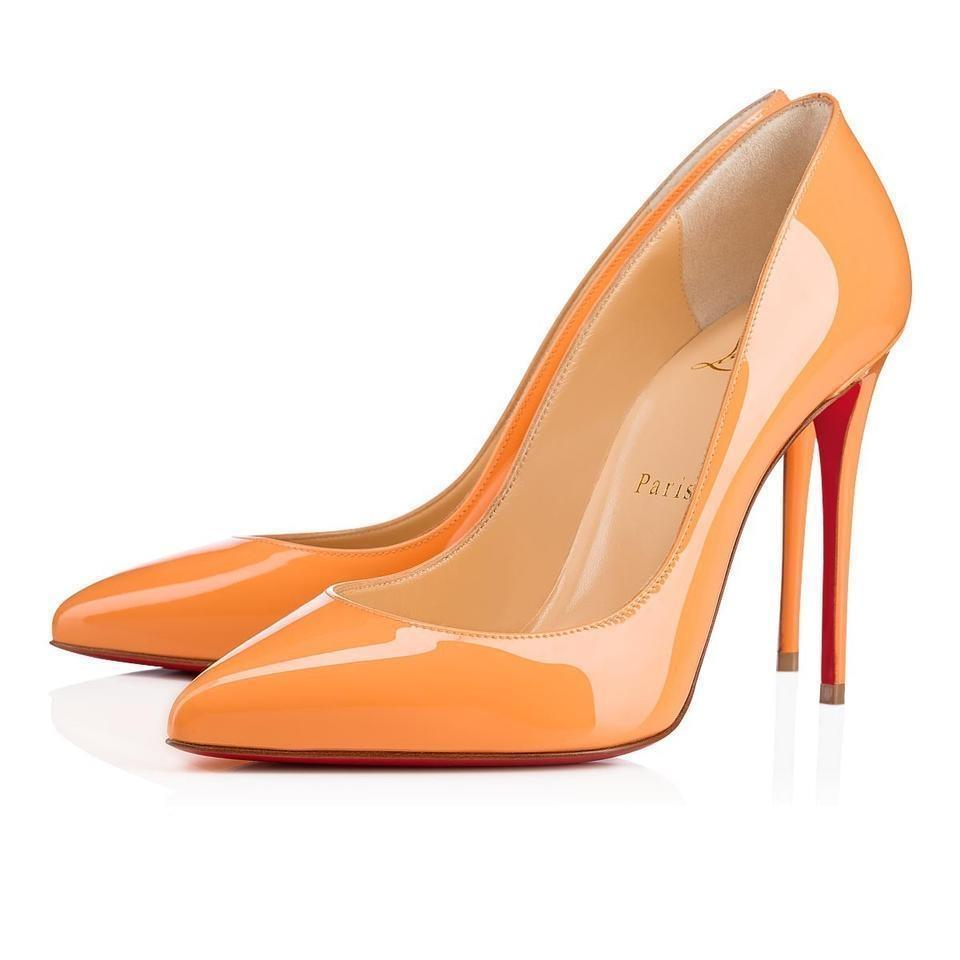 f994d6bf2a5 Christian Louboutin Sunset Orange Pigalle Follies 100 Patent Leather Heel  Pumps Size EU 36.5 (Approx. US 6.5) Regular (M, B) 19% off retail