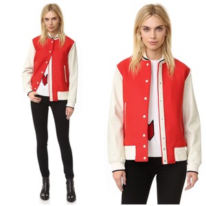 Rag & Bone red & beige Leather Jacket